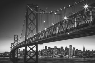 Classic Black & White Cityscape, San Francisco Bay Bridge by Vincent James
