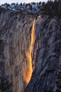 Classic Firefall South View 2016, Horsetail Falls, Yosemite National Park by Vincent James