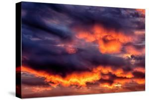 Cloud Burn Abstract, Nature Sky Fire Art by Vincent James