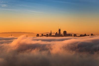Cloud City San Francisco Sunrise Burn Above the Fog by Vincent James