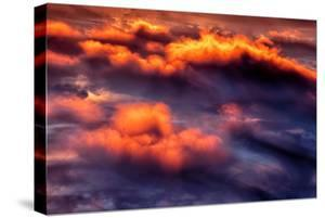 Cloud Fire Abstract Fluffy Nature Detail Red by Vincent James