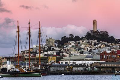 Coit Tower & Ship Harbor San Francisco at Sunset by Vincent James