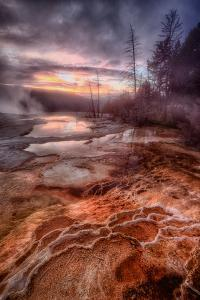 Colorful Geo Thermal Morning, Mammoth Hot Springs by Vincent James