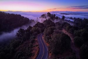 Dawn Over the Easy Bay Hills Oakland Montclair Grizzly Peak by Vincent James