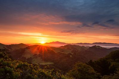 Day Break Heaven Sunrise Bay Area Hills Mount Diablo Oakland by Vincent James