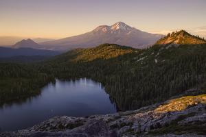 Day's End at Castle Lake Overlook Mount Shasta Northern California by Vincent James