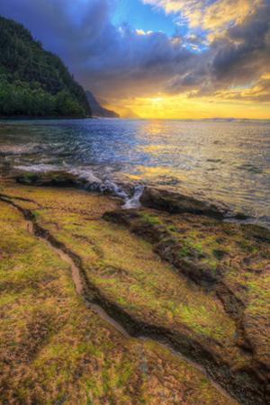 Day's End at Ke'e Beach, Na Pali Coast, Kauai by Vincent James