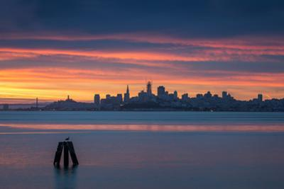 Daybreak Over San Francisco Bay Sunrise from Sausalito California by Vincent James
