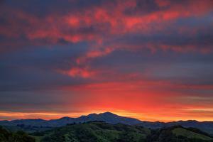 Diablo Awakens Sunrise Sky Fire Walnut Creek Mount Diablo by Vincent James