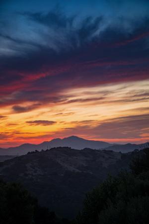 Diablo Morning Swirl Sky Fire Clouds Oakland Hills Mount Diablo East Bay by Vincent James