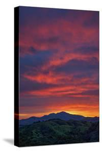 Diablo Sky Fire Morning Walnut Creek Mount Diablo State Park by Vincent James