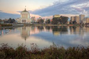 Downtown Oakland at Lake Merritt by Vincent James