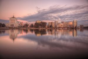 Downtown Oakland Reflection at Lake Merritt by Vincent James