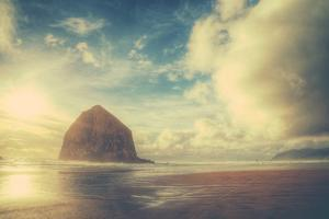 Dreamy Scene at Haystack Rock, Cannon Beach, Oregon Coast by Vincent James