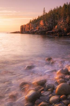 Early Morning Burn at Monument Cove, Otter Point Maine by Vincent James