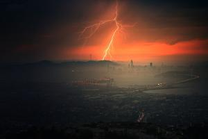 Electrifying Evening Lightning Strikes Bay Area Storm San Francisco by Vincent James
