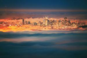 Enraptured Fog City San Francisco Urban Night Cityscape by Vincent James