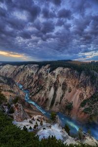 Epic Clouuds Grand Canyon Yellowstone National Park Wyoming by Vincent James