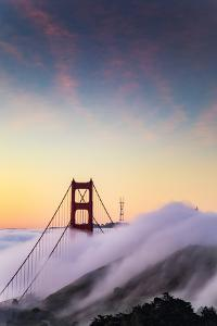 Epic Low Fog Flows Under Golden Gate Bridge, San Francisco by Vincent James