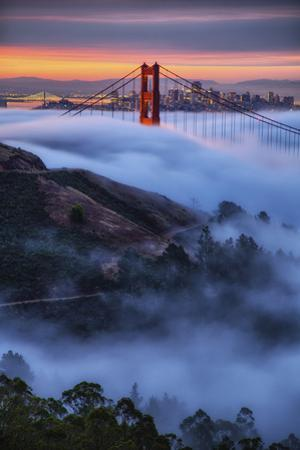 Epic Morning Fog Golden Gate Bridge, San Francisco California Travel by Vincent James
