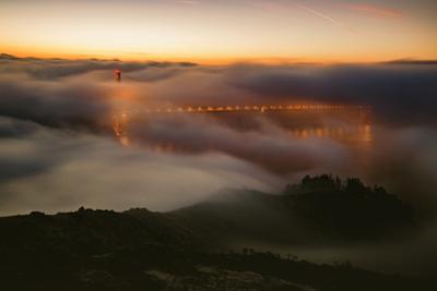 Ethereal Golden Sunrise at Golden Gate Bridge, San Francisco by Vincent James