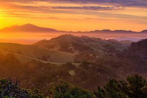 Ethereal Golden Sunrise Mount Diablo East Bay Oakland Bay Area by Vincent James
