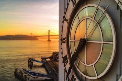 Ferry Building Clock Tower Sunrise San Francisco Beautiful Travel by Vincent James