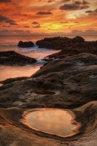 Fiery Sunset at Point Lobos, California by Vincent James