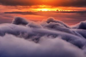 Fire & Fog Tension at Sunset Santa Cruz Mountains Silicon Valley by Vincent James