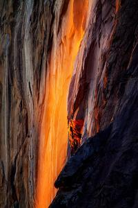 Firefall Detail, Horsetail Falls with Sun and Light, Yosemite National Park by Vincent James