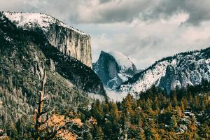 First Glance, Half Dome and El Capitan, Yosemite National Park by Vincent James