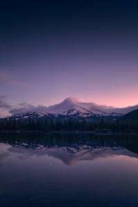First Light at Sparks Lake, Bend, Oregon by Vincent James