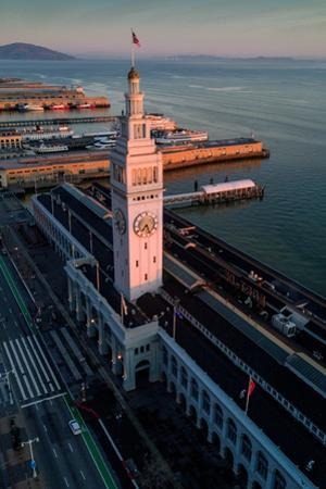 First Light Ferry Building San Francisco Bay Port Harbor Ships by Vincent James