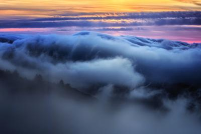 Fog & Cloud Abstract at Sunset Over California Coast Marin San Francisco by Vincent James