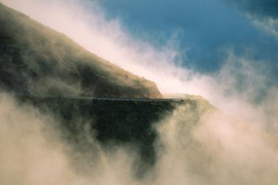 Fog Drive Heavenly Mist and Roadway Turn at Marin Headlands by Vincent James