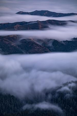 Fog Empire Hills and Mood Mill Valley Bay Area Marin San Francisco by Vincent James
