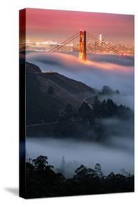 Fog Envelopes Marin Headlands Golden Gate Bridge at Sunrise City Urban San Francisco by Vincent James