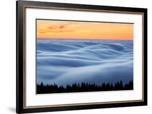 Fog Stream at Sunset, Mount Tam, Pacific Ocaen, San Francisco by Vincent James