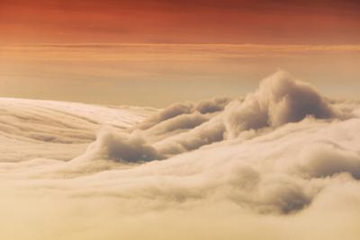 Fog Wave at Sunset Over San Francisco Bay Area Marin County by Vincent James
