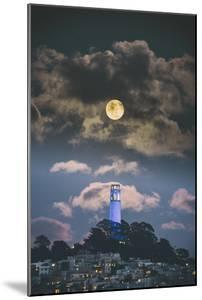 Full Moon Over Coit Tower, San Francisco Iconic Travel by Vincent James
