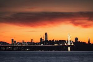 Full Set Sunset Burn Emeryville to San Francisco Silhouette by Vincent James