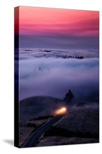 Get The Fog Out Headlights Through Sunset Fog at Mount Tamalpais San Francisco by Vincent James