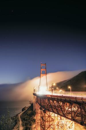 Going With The Flow Morning Fog Golden Gate Bridge Vista by Vincent James