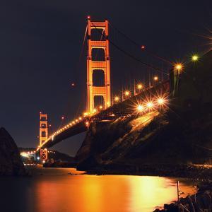 Golden Gate Bridge Retro View by Vincent James