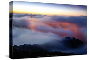 Golden Gate Bridge Shrouded in Beautiful Unqiue Deck Fog Twlight San Francisco by Vincent James