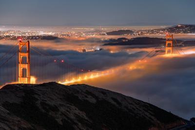 Golden Gate Pocket Resting in Fog San Francisco Bay Area by Vincent James