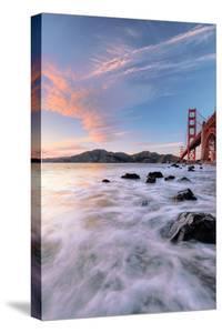 Golden Moment at Marshall Beach Golden Gate Bridge San Francisco by Vincent James