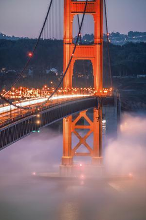 Golden Travels, Night Photography Golden Gate Bridge, San Francisco by Vincent James