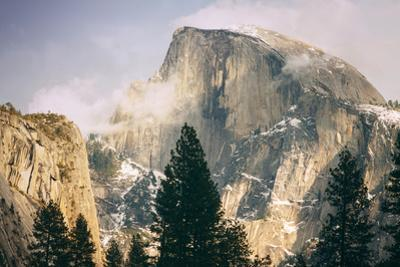 Half Dome and Wispy Clouds in Late Afternoon, Yosemite Valley by Vincent James