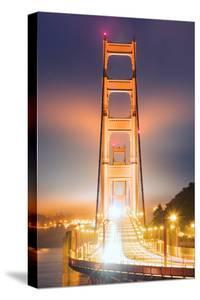 Head On Alignment Golden Gate Night Lights Marin San Francisco by Vincent James